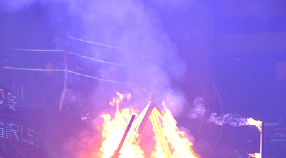 ... która za kilka chwil spłonęła (fot. Ireneusz Sobieszczuk/TVP)
