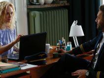 Tymczasem w kancelarii Sylwia Małecka poznaje pierwszego oficera Mariusza Rybickiego (fot. A. Grochowska)