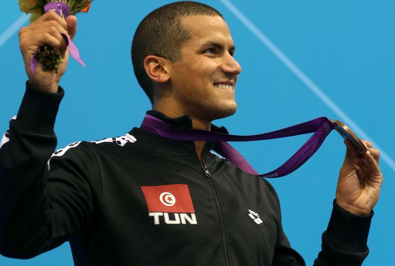 Oussama Mellouli z Tunezji zdobył brązowy medal w wyścigu na 1500 metrów stylem dowolnym mężczyzn (fot. Getty Images)
