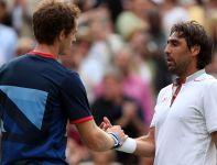 W trzeciej rundzie Brytyjczyk pokonał Marcosa Baghdatisa z Cypru (fot. Getty Images)