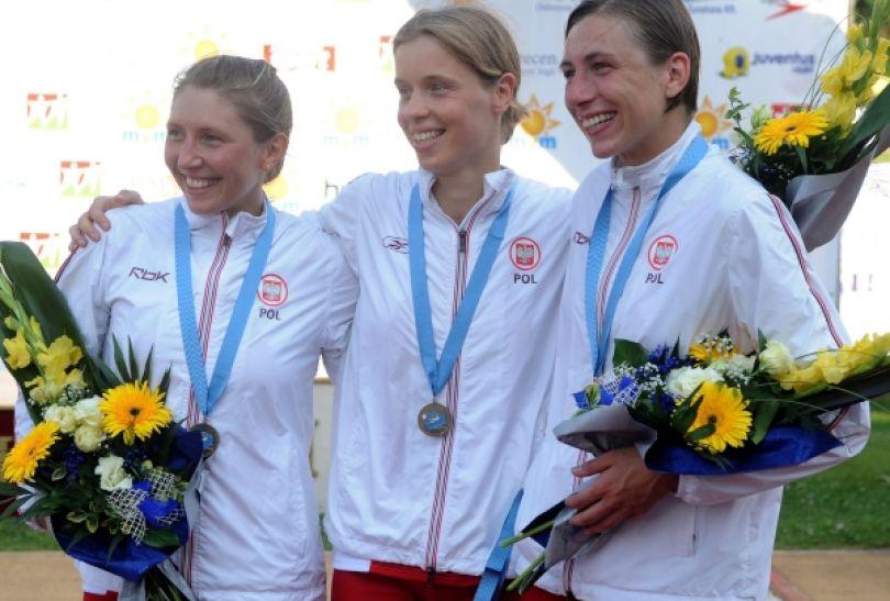Sylwia Gawlikowska, Paulina Boenisz i Katarzyna Wójcik z brązowymi medaliami ME (fot. PAP/EPA)