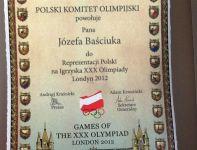 Pismo, które Józef Baściuk otrzymał od prezesa PKOl-u  (fot. archiwum Józefa Baściuka)