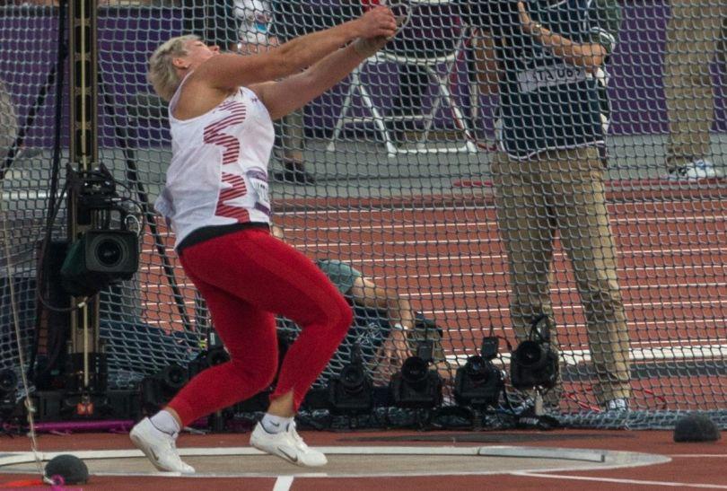 Medal dał Włodarczyk rzut na odległość 77,60 metrów (fot. PAP/Adam Ciereszko)