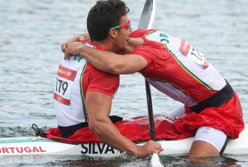 Portugalczycy zdobyli srebrny medal w rywalizacji w K2 na 500 metrów (fot. Getty Images)