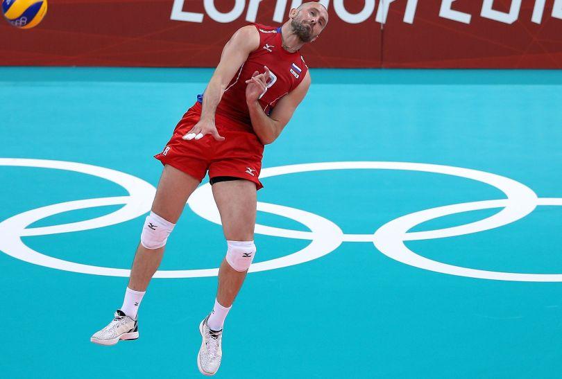 Siergiej Tietiuchin, przyjmujący reprezentacji Rosji (fot. Getty Images)