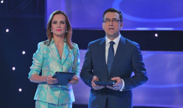 Galę poprowadzili Paulina Chylewska i Maciej Orłoś (fot. J. Bogacz/TVP)
