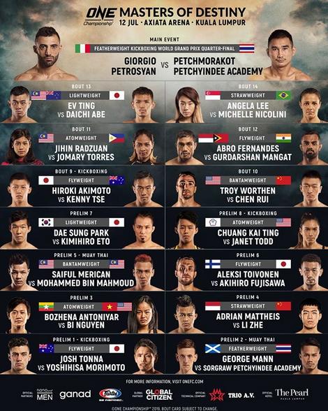 Zapowiedź gali 12 lipca w Kuala Lumpur (Instagram One Championship)