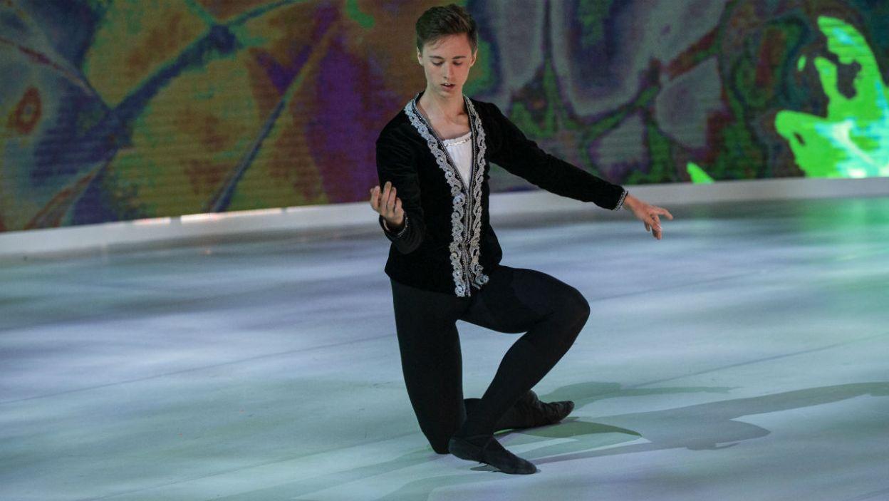 Następnie w finałowej choreografii zaprezentował się Łukasz Bałoniak (fot. N. Młudzik/TVP)