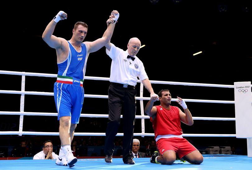 Włoch w ćwierćfinale okazał się lepszy od Marokańczyka Mohammeda Arjaoui (fot. Getty Images)