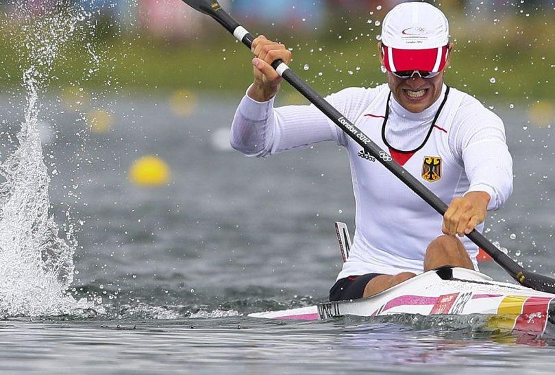 Niemiec Max Hoff zdobył brązowy medal w rywalizacji K1 na 1000 metrów (fot. PAP/EPA)