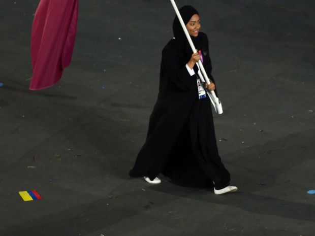 Bahia Al Hamad jest pierwszą katarska sportsmenką na igrzyskach (fot. Getty Images)