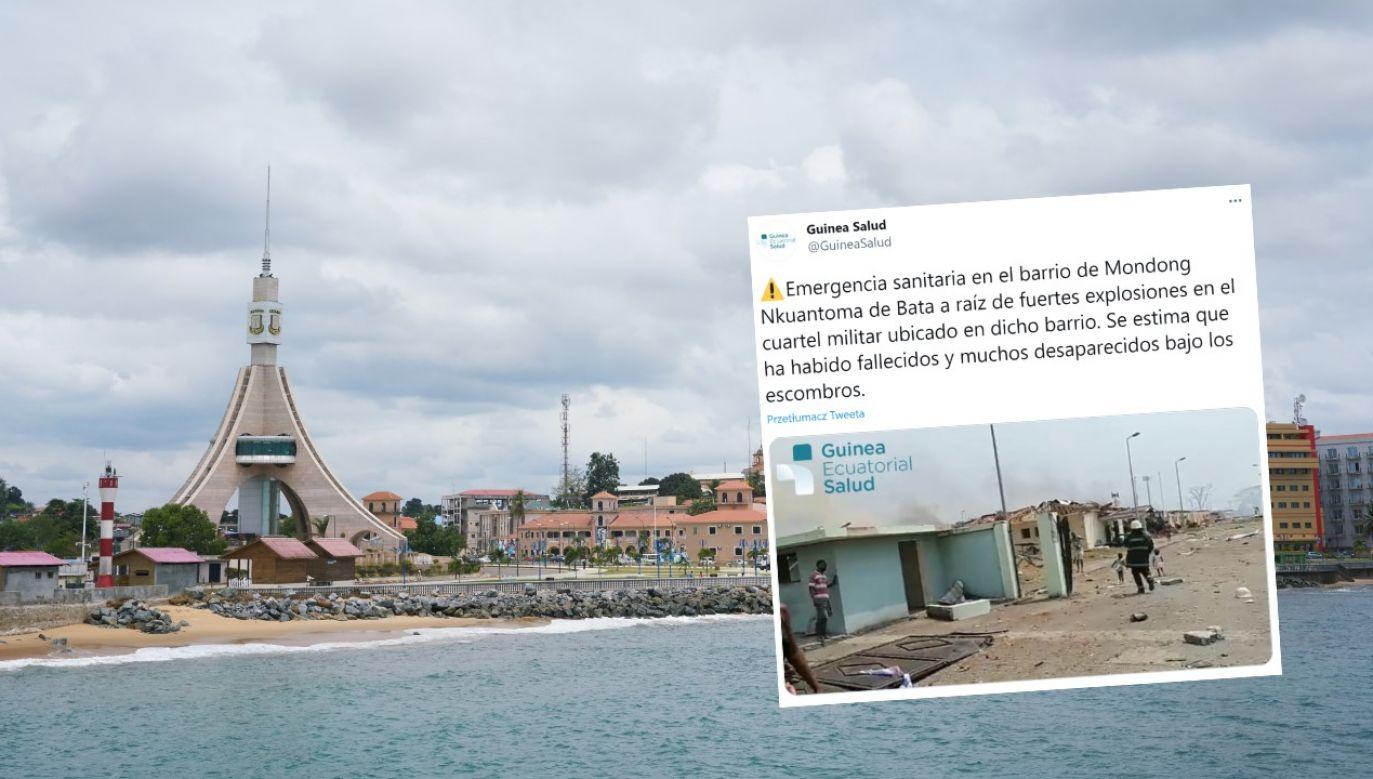Do tragicznych eksplozji doszło w koszarach w mieście Bata (fot. David Degner/Getty Images / Twitter/@GuineaSalud)