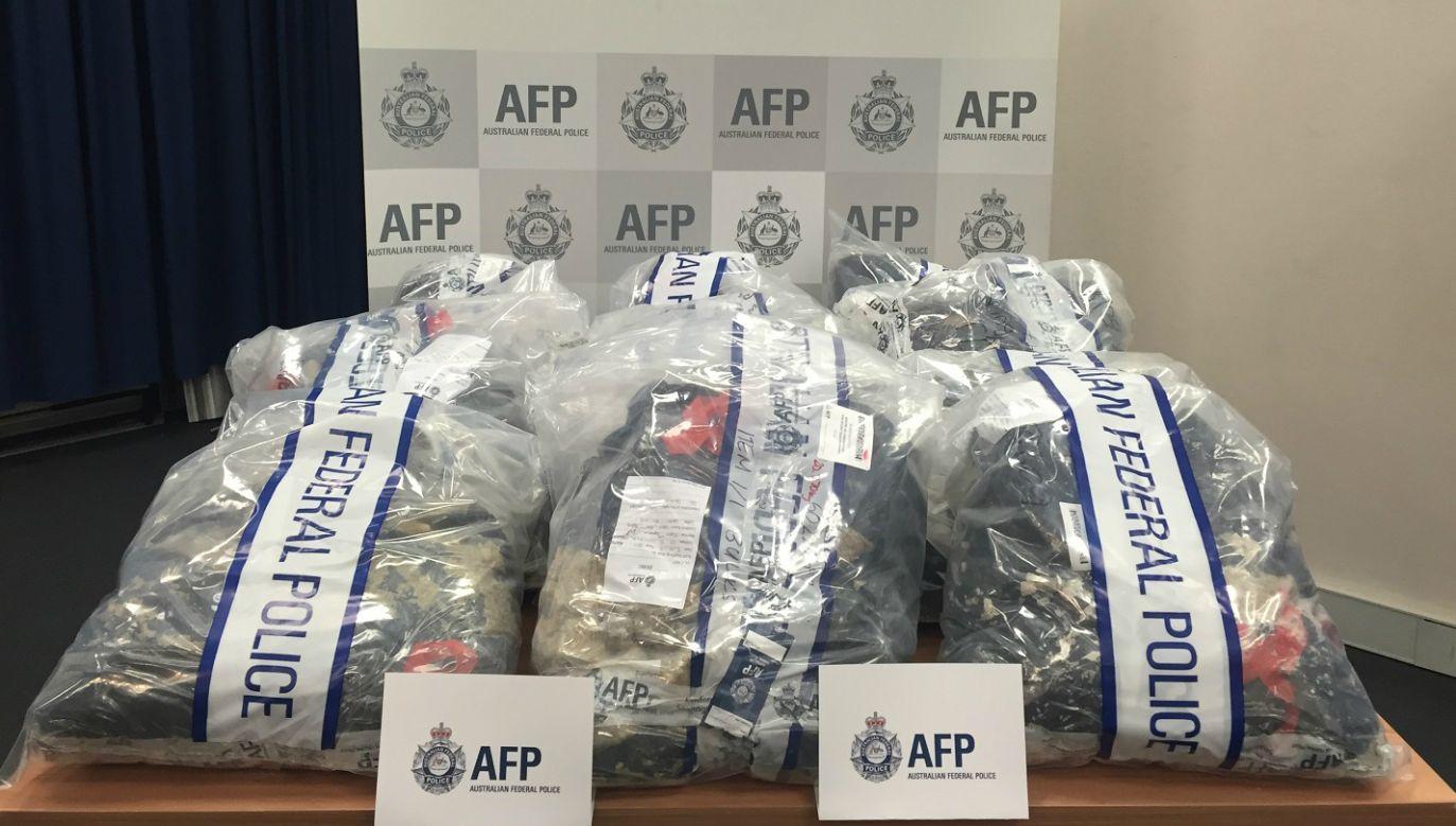 Narkotyki przejęte przez australijską policję (fot. australian federal police.)
