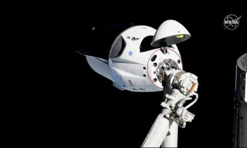 Kapsuła Crew Dragon firmy SpaceX. Fot. NASA/Handout via Reuters
