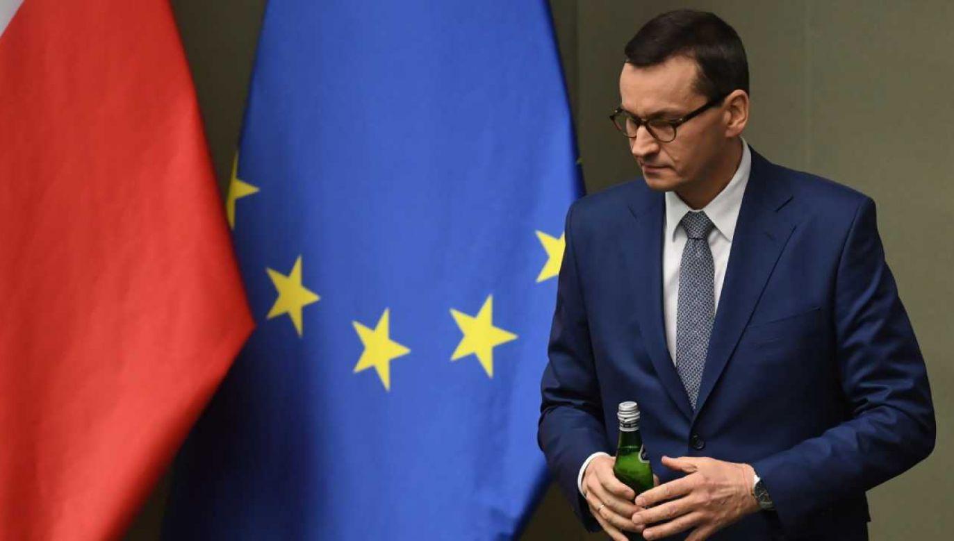 Premier Mateusz Morawiecki złożył w Sejmie wniosek o wotum zaufania dla rządu  (fot. PAP/Radek Pietruszka)