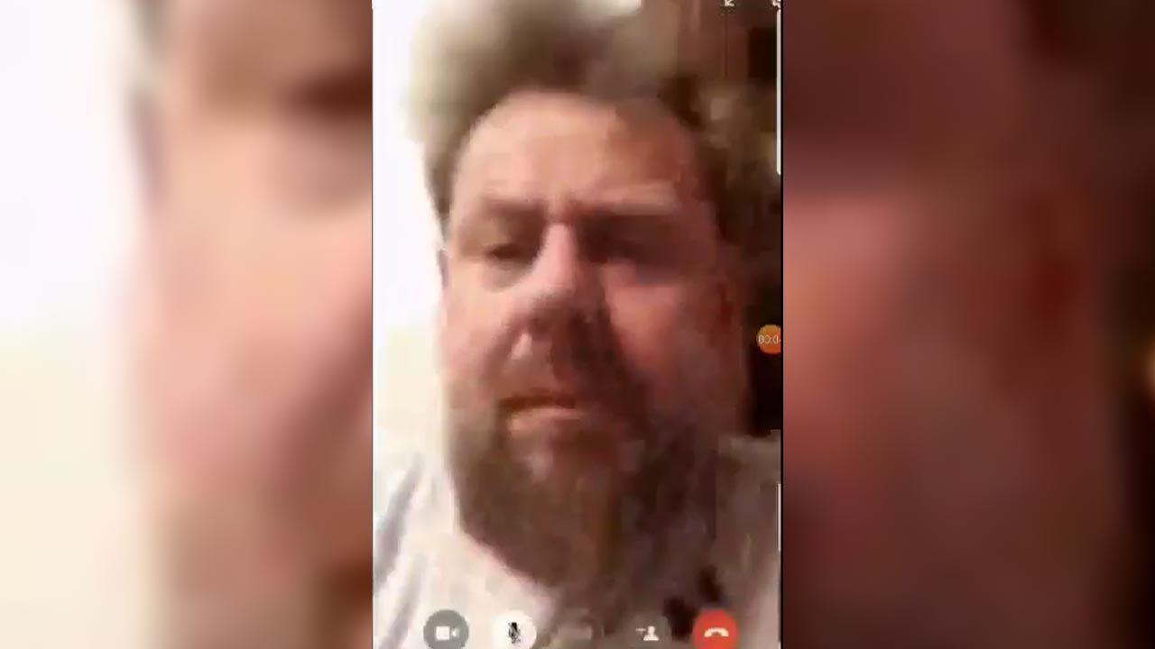 Jak sam przyznał polityk, w pierwszej części nagrania widać jego twarz (fot. Facebook)
