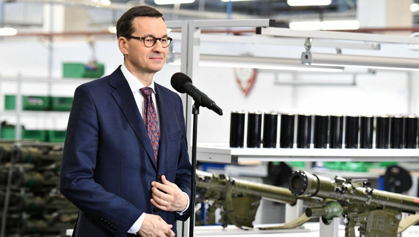 Premier Mateusz Morawiecki podpisał umowę ws. dokapitalizowania PGZ (fot. PAP/Piotr Polak)