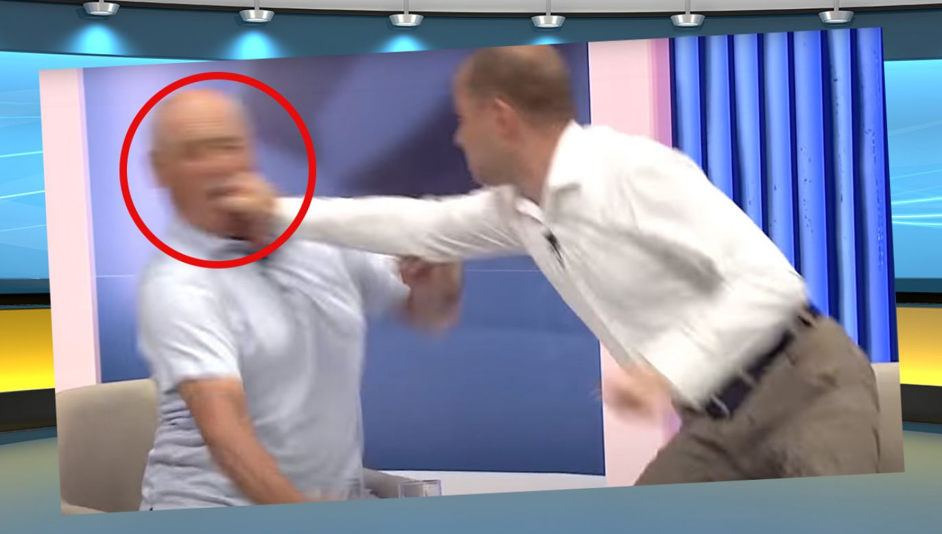 Bójka w programie politycznym (fot. Shutterstock; Youtube)