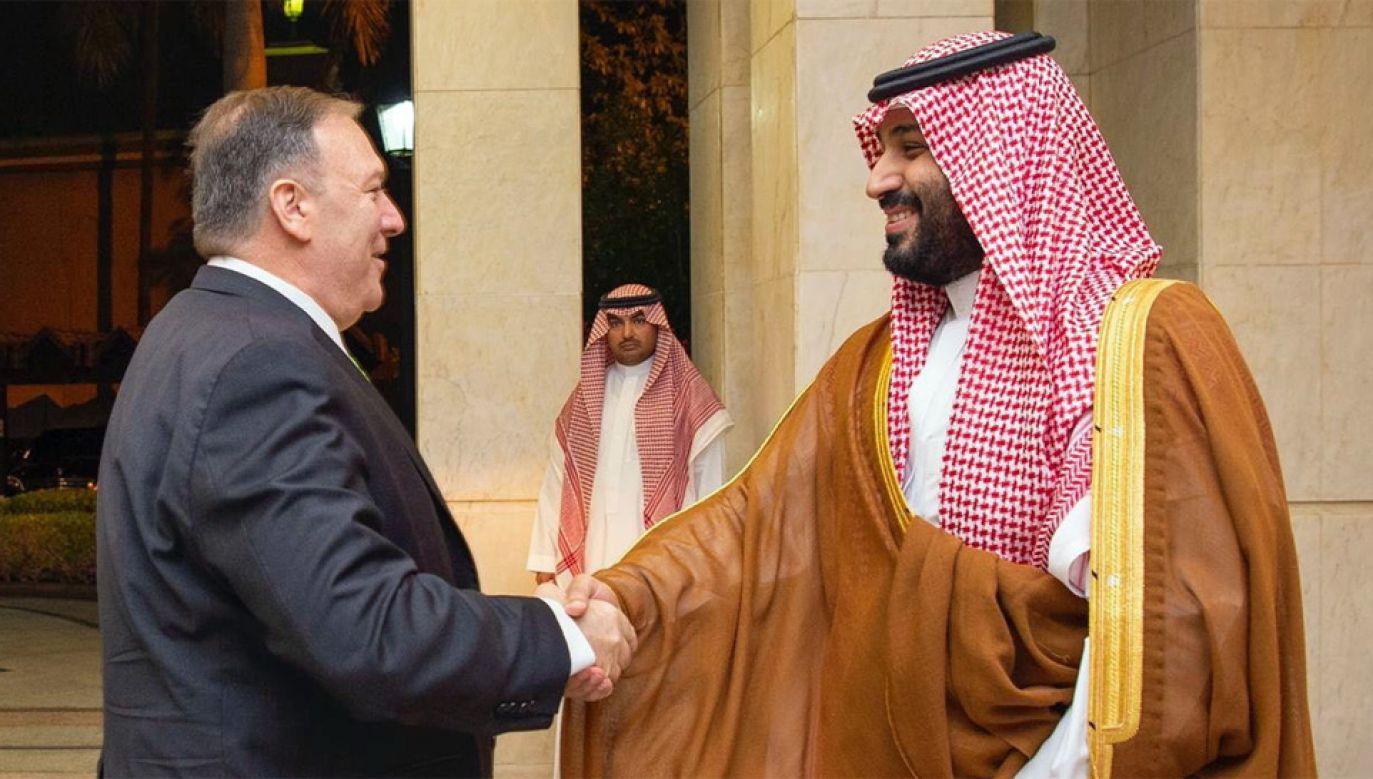 Sekretarz stanu USA Mike Pompeo udał się do Arabii Saudyjskiej (fot. PAP/EPA/BANDAR ALJALOUD / SAUDI ROYAL COURT HANDOUT)