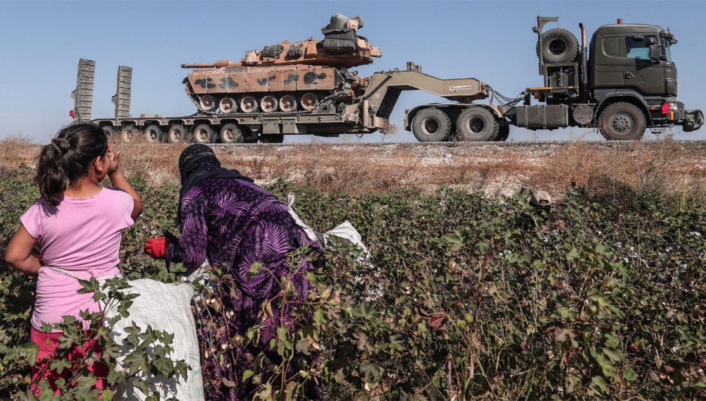 Turcja zaatakowała Syrię pod pozorem ochrony własnej granicy (fot. PAP/EPA/SEDAT SUNA)