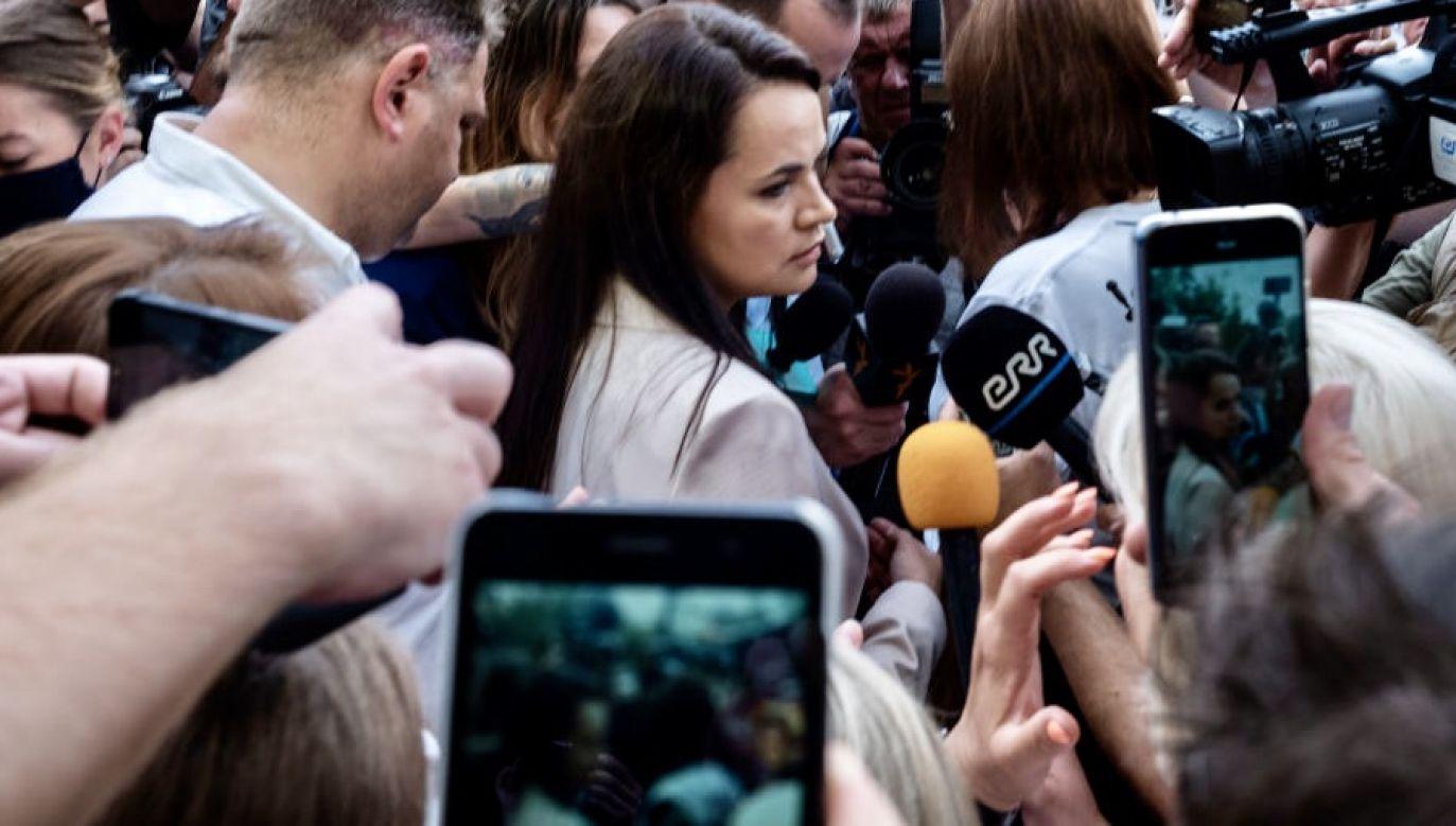 Według CKW liderka opozycji przegrała z Łukaszenką (fot. Misha Friedman/Getty Images)