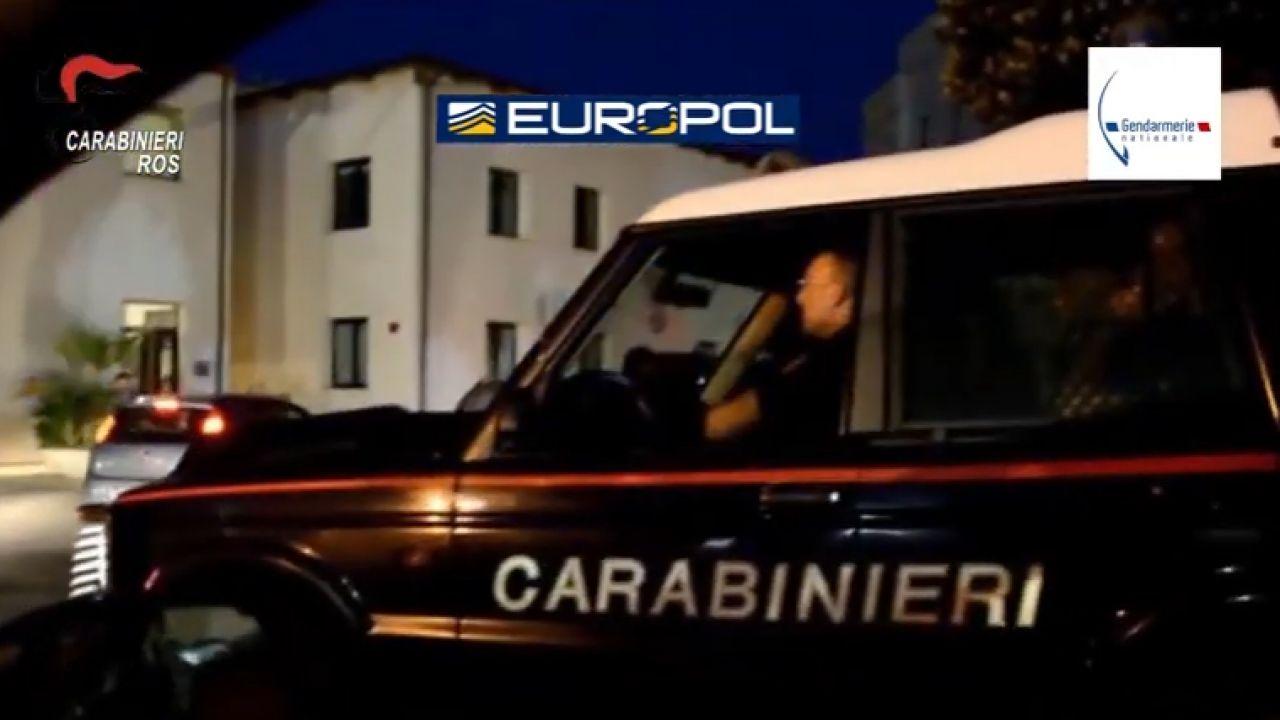 Uderzenie we włoskich mafiosów działających we Francji i Belgii (fot. Europol)