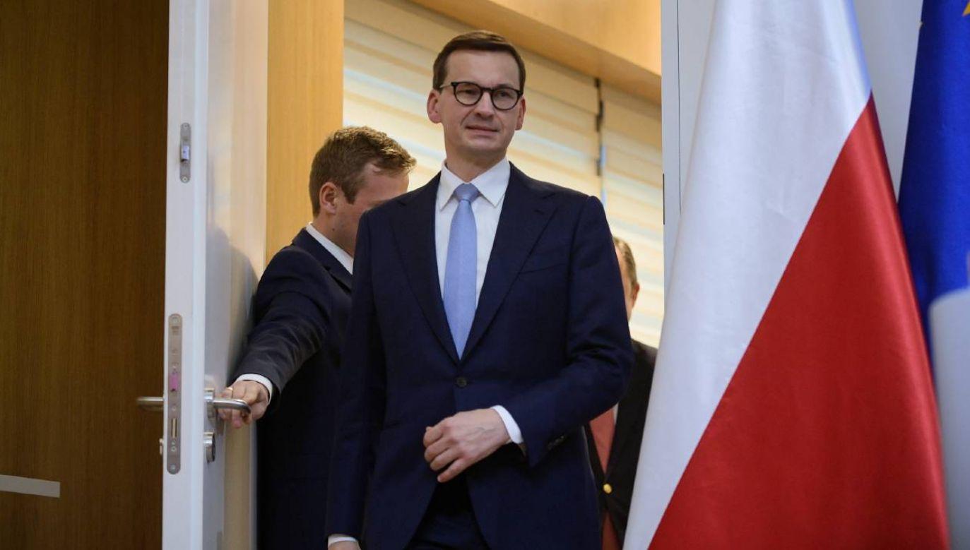Premier Mateusz Morawiecki w Brukseli (fot. PAP/Marcin Obara)