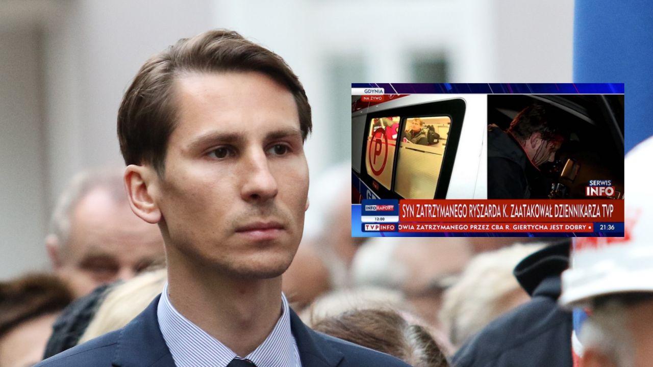 Kacper Płażyński o sprawie pobicia operatora TVP (fot. Michal Fludra/NurPhoto via Getty Images, TVP INFO)