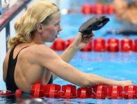 Britta Steffen z Niemiec zajęła drugie miejsce w swoim półfinale 50 metrów stylem dowolnym (fot. Getty Images)