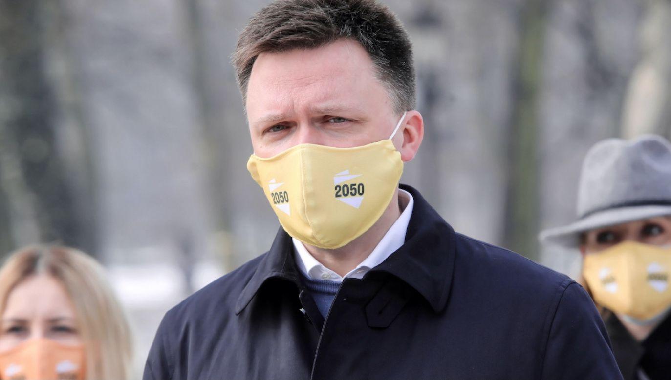 Lider Polski 2050 Szymon Hołownia (fot. PAP/Wojciech Olkuśnik)