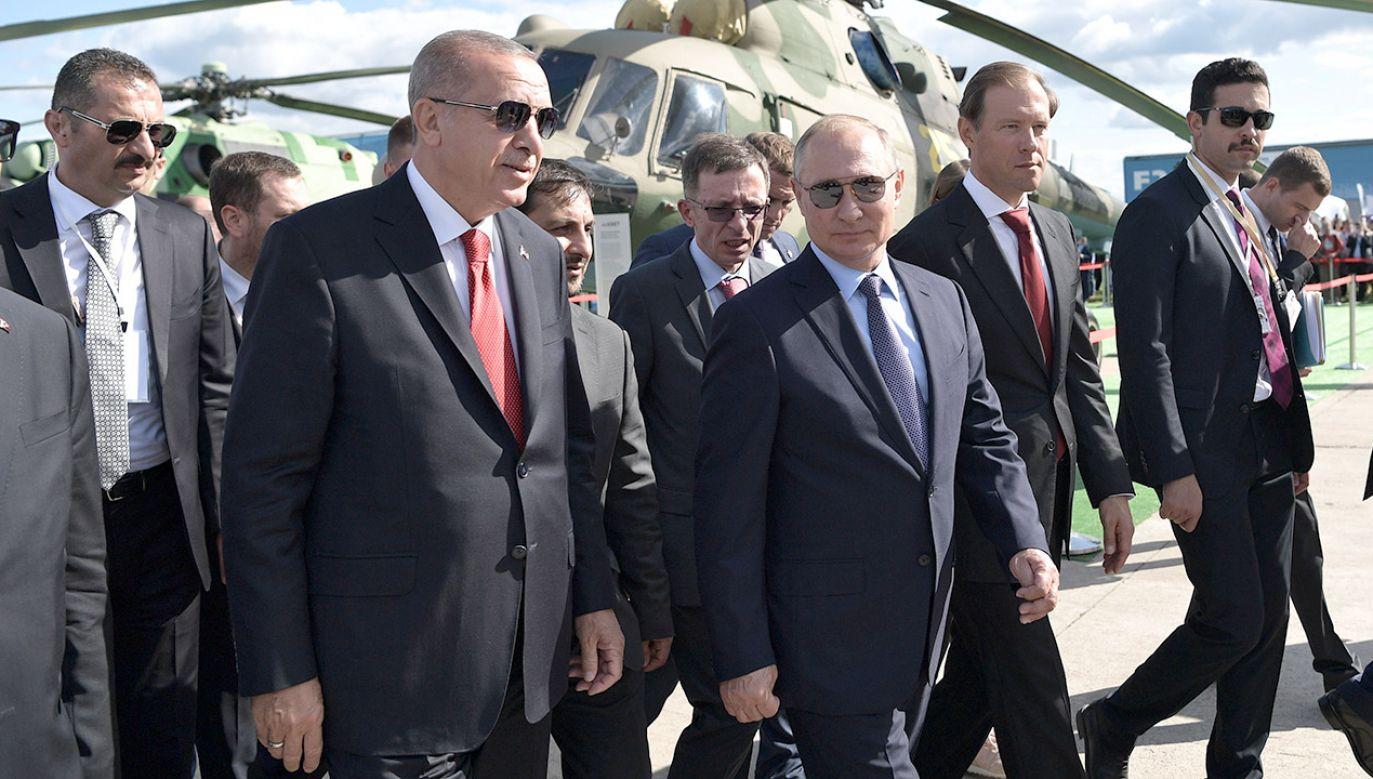 Recep Erdogan i Władimir Putin (fot. Sputnik/Aleksey Nikolskyi/Kremlin via REUTERS)