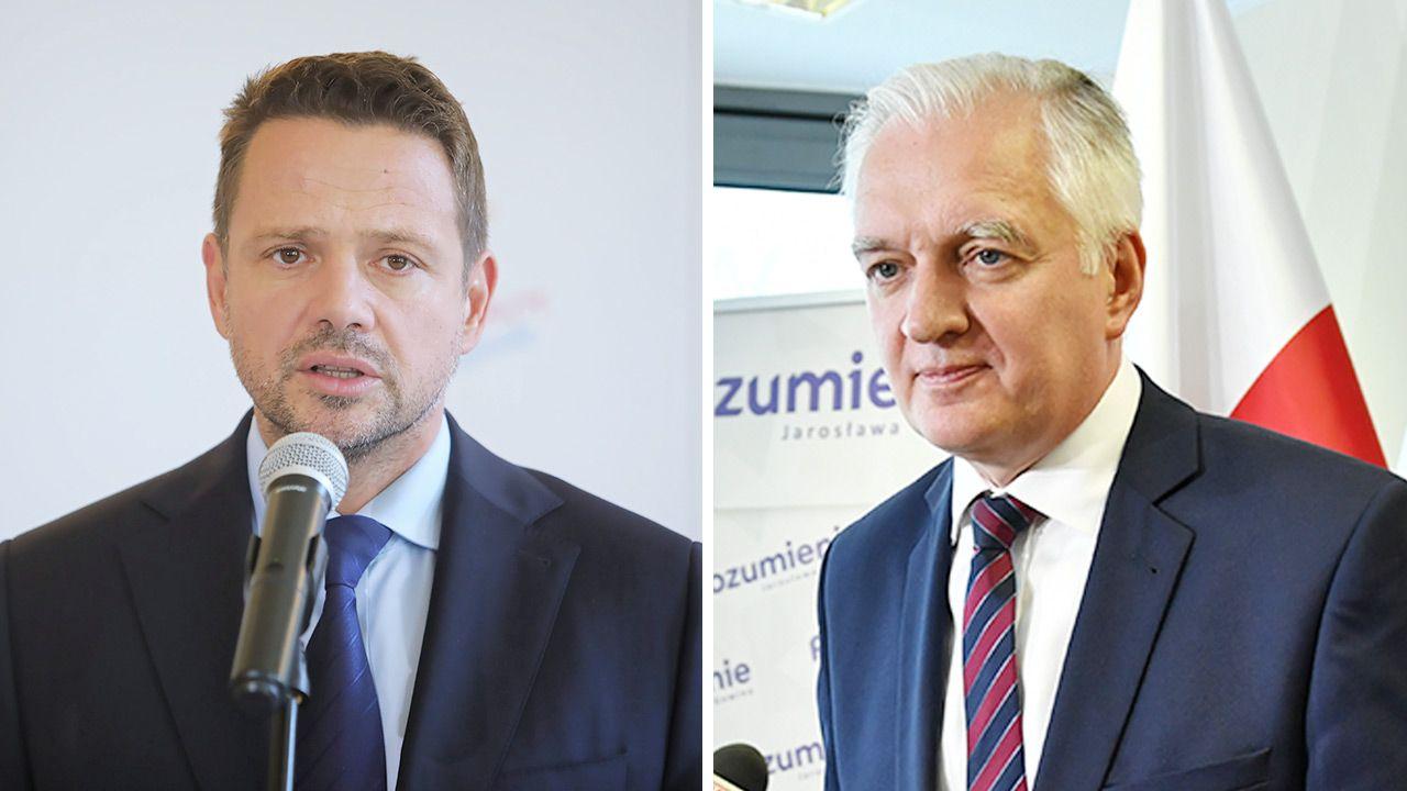 Rafał Trzaskowski nie będzie już kandydatem na prezydenta. Z opozycją miał, wiosną 2020 r., rozmawiać Jarosław Gowin (fot. PAP/Wojciech Olkuśnik; Adam Warżawa)