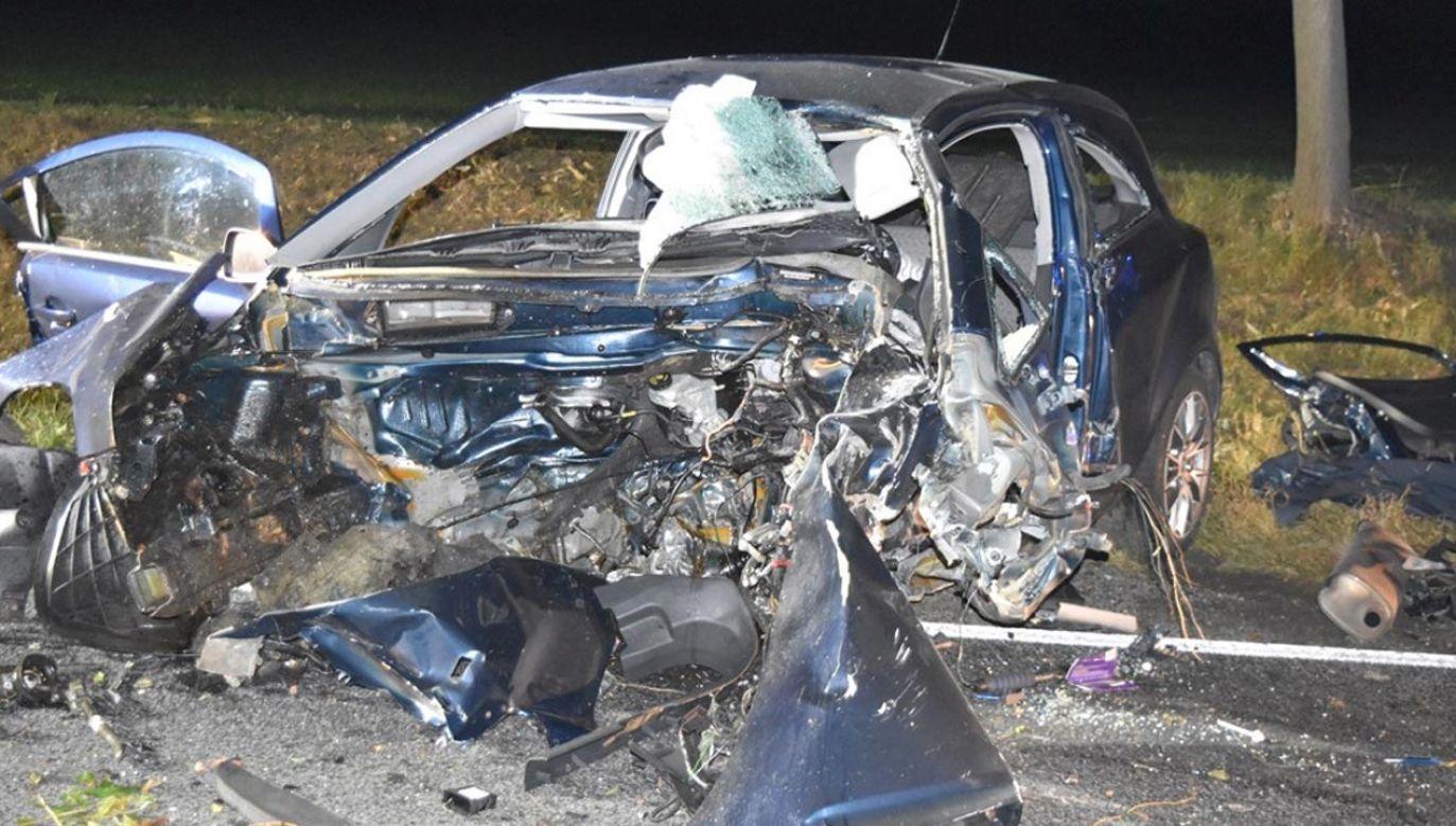 Kierujący poniósł śmierć na miejscu (fot. Policja)