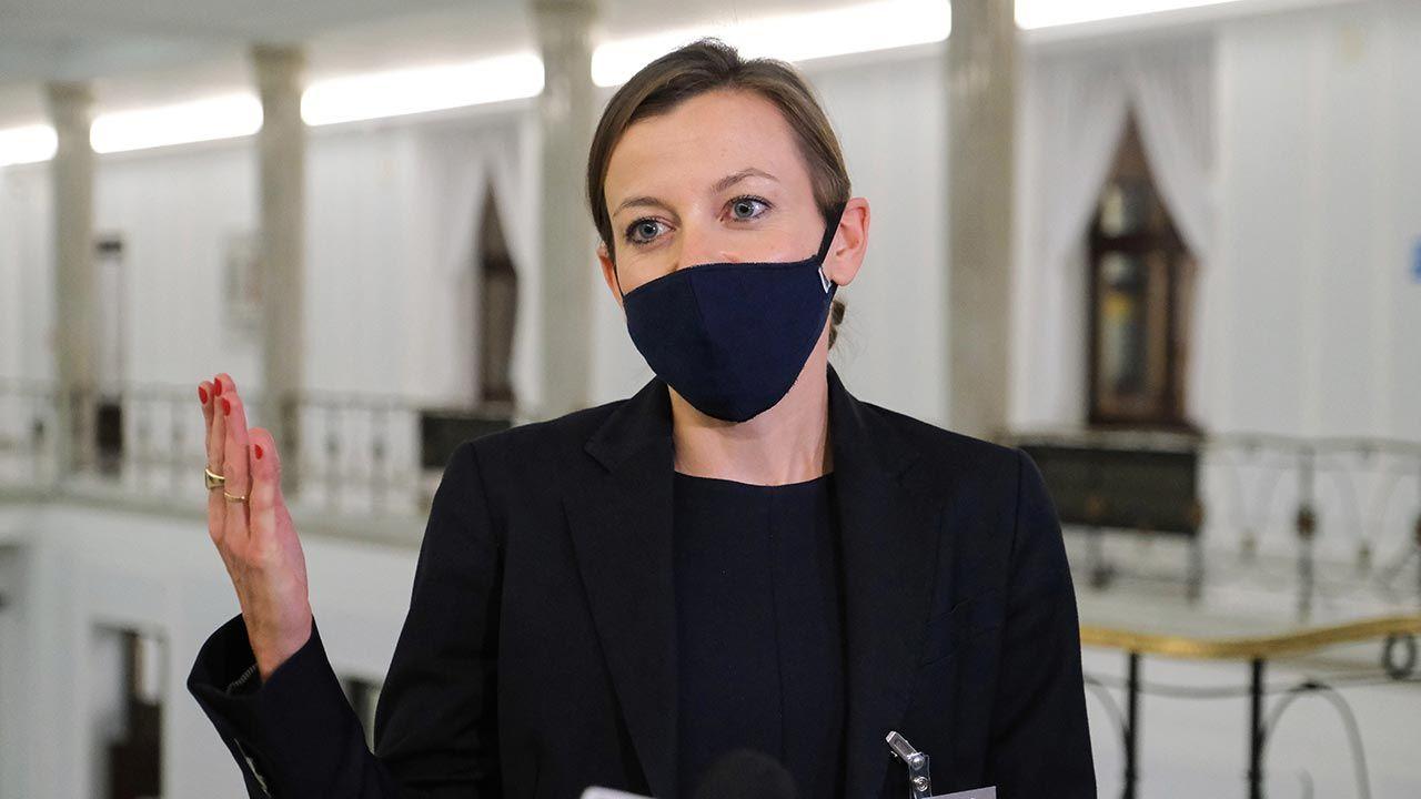 Zuzanna Rudzińska – Bluszcz zapowiada, że z uporem będzie nadal forsowała swoją osobę na funkcję RPO (fot. PAP/Mateusz Marek)