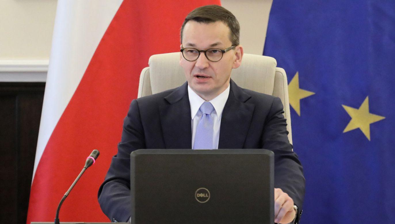 Premier Mateusz Morawiecki podczas posiedzenia Rady Ministrów (fot. PAP/Paweł Supernak)