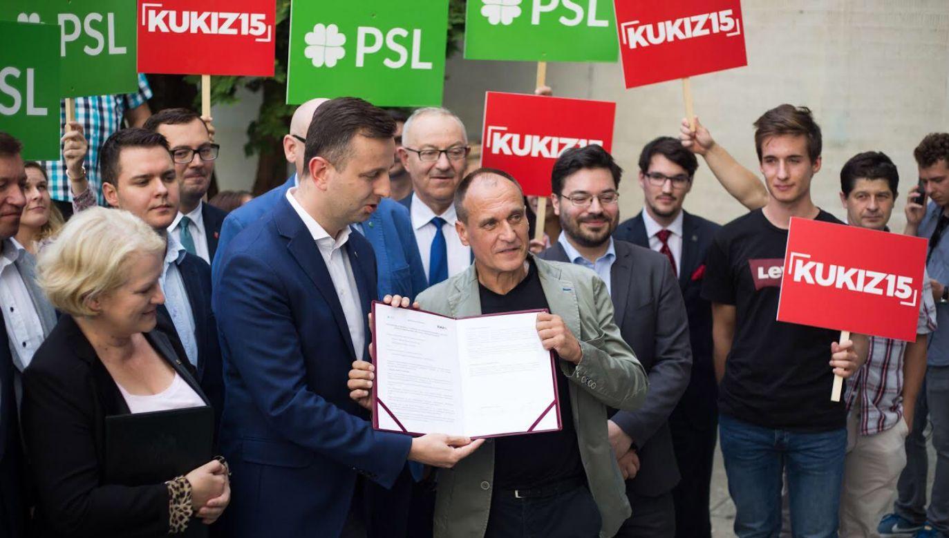 Po niespodziewanym mariażu z PSL Kukiz'15 stanowi integralną część opozycji totalnej (fot. Twitter/KUKIZ15)