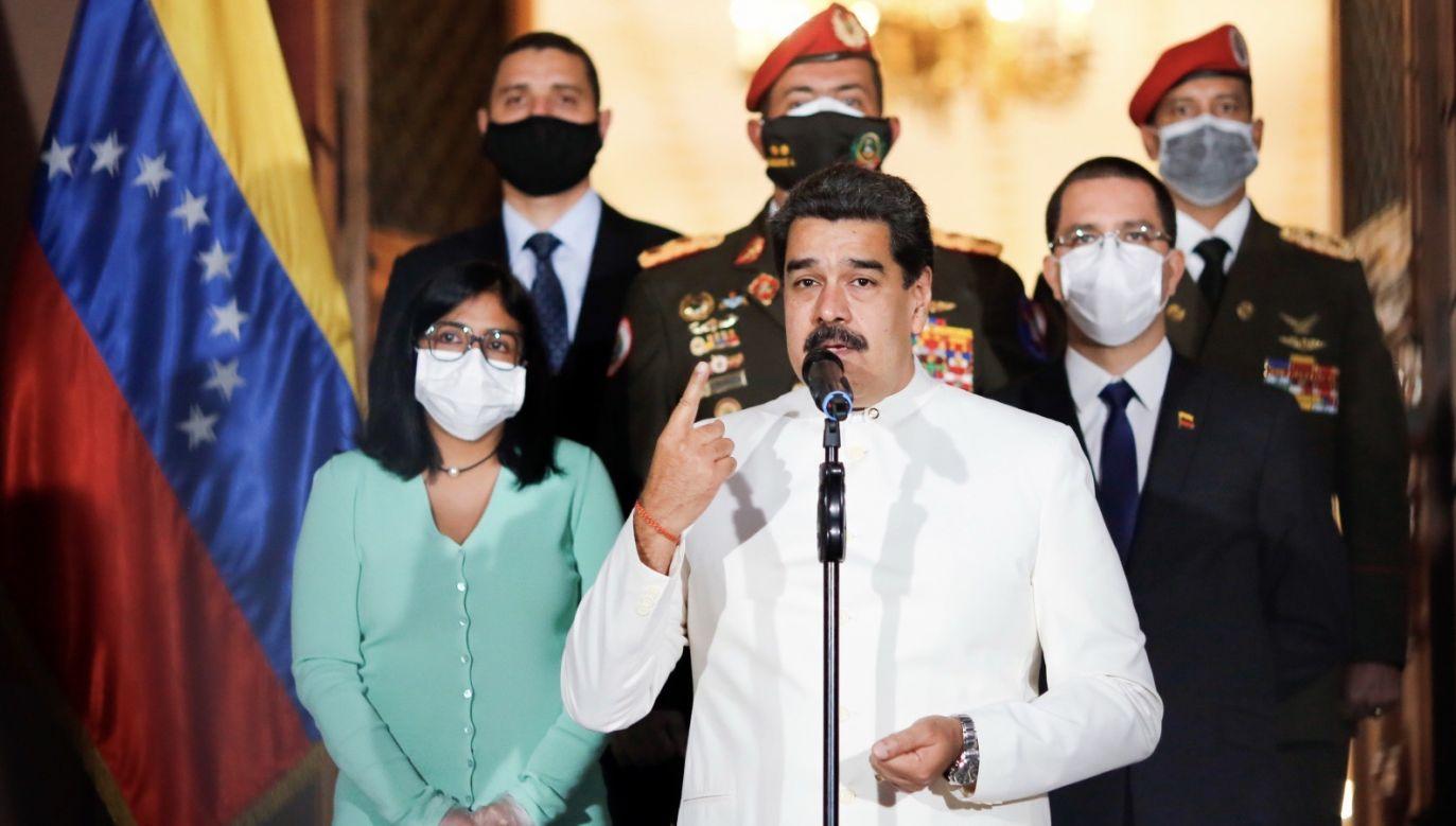 """Plan określa """"ramy demokratycznej transformacji"""" kraju (fot. PAP/ EPA/MIRAFLORES PRESIDENTIAL PALACE)"""