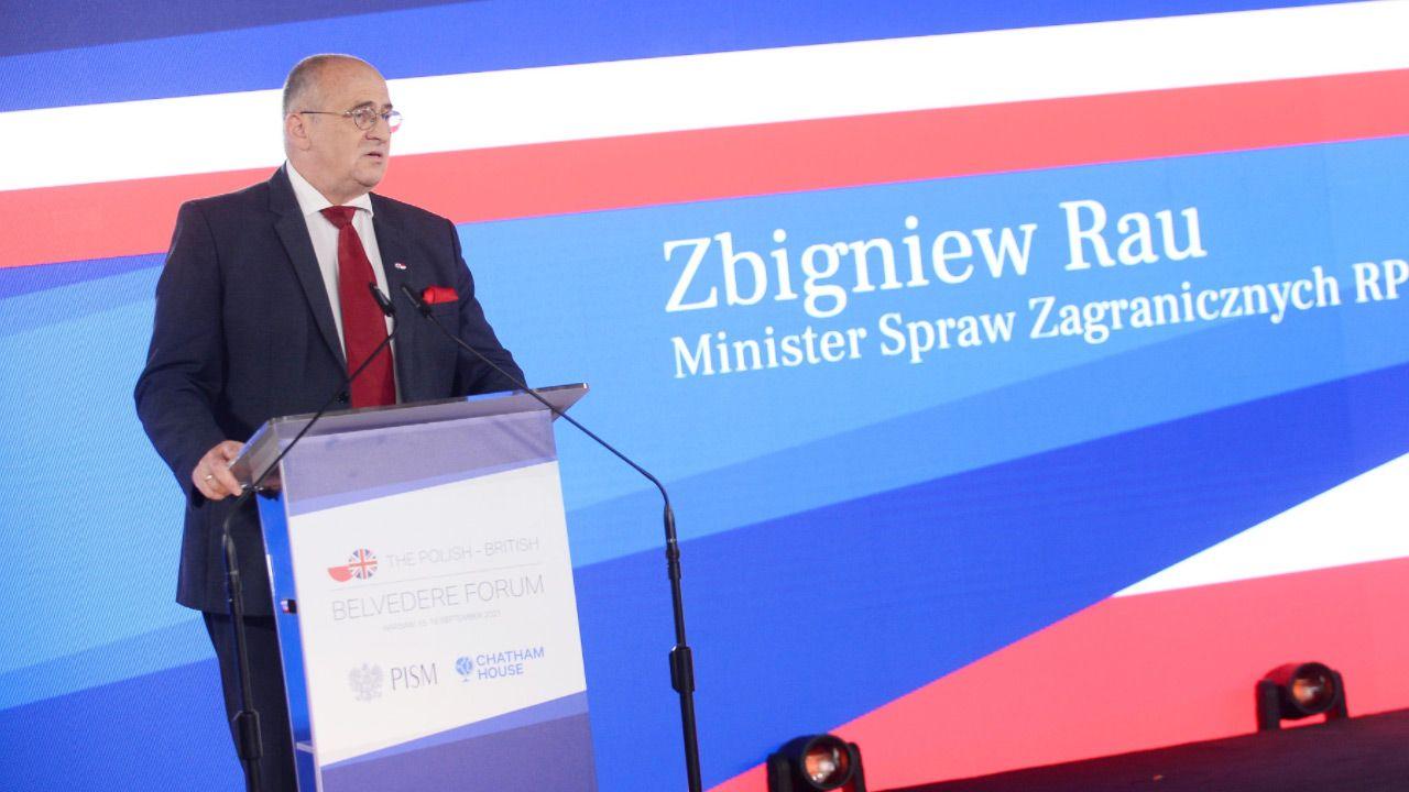 Zbigniew Rau o współpracy polsko-brytyjskiej (fot.TT/Belvedere Forum)