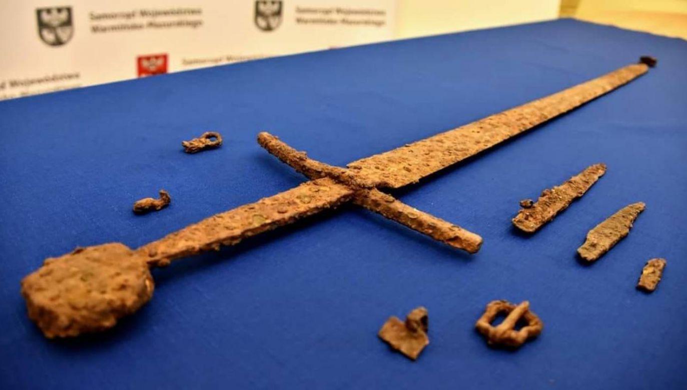 Miecz ma około 600 lat i zachował się w świetnym stanie (fot. Muzeum Bitwy pod Grunwaldem)