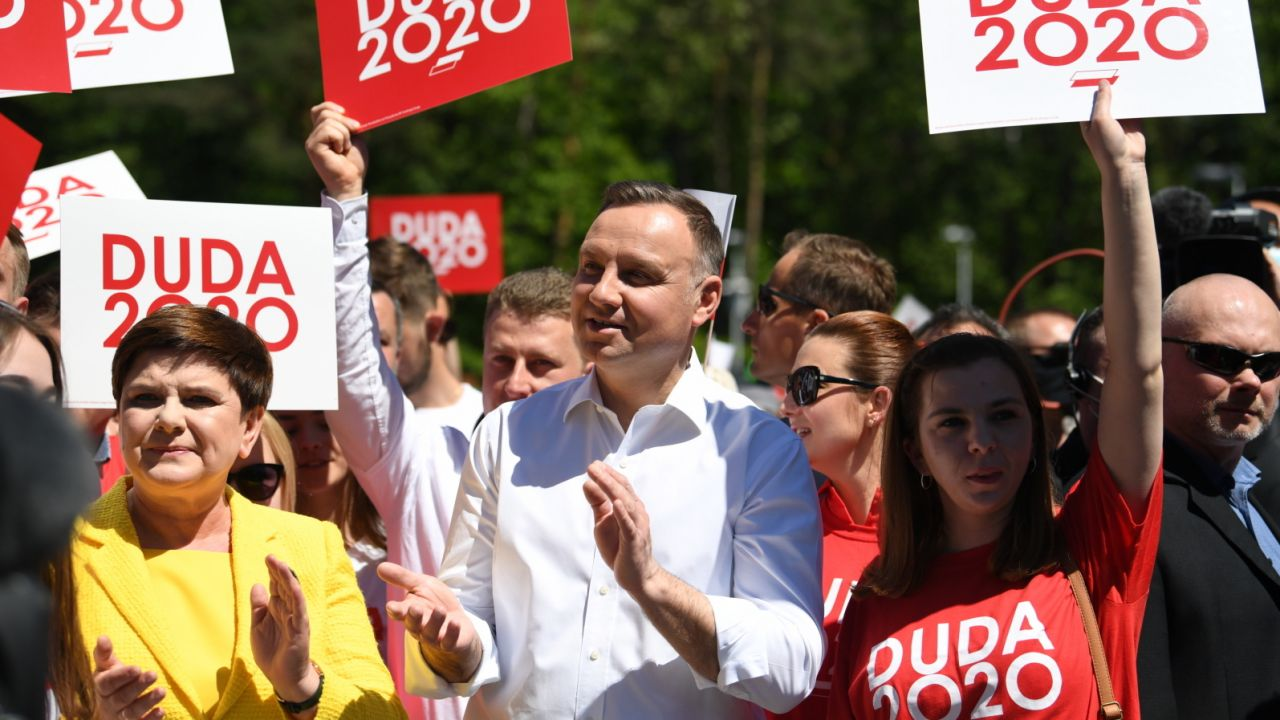 Wybory prezydenckie 2020. Prezydent RP Andrzej Duda (fot. PAP/Darek Delmanowicz)