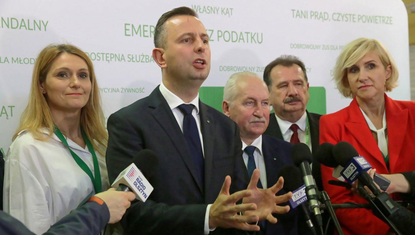 Władysław Kosiniak-Kamysz podczas zjazdu delegatów woj. warmińsko-mazurskiego (fot. PAP/Tomasz Waszczuk)