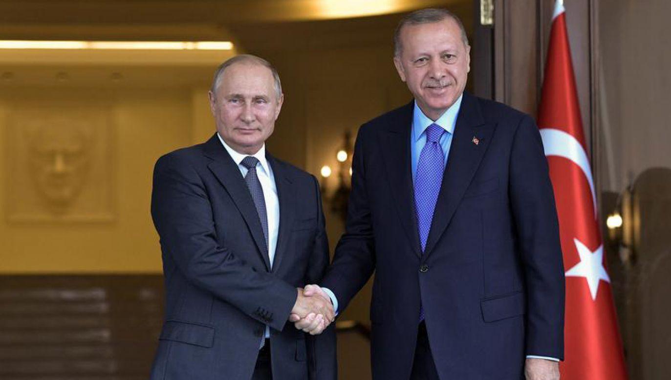 Prezydent Rosji i Turcji (fot. Reuters/Sputnik)