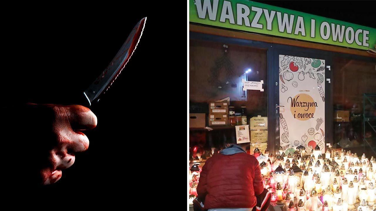 Policjant po służbie uratował kasjerkę z Żabki (fot. Shutterstock/Ezume Images; PAP/Tomasz Gzell)