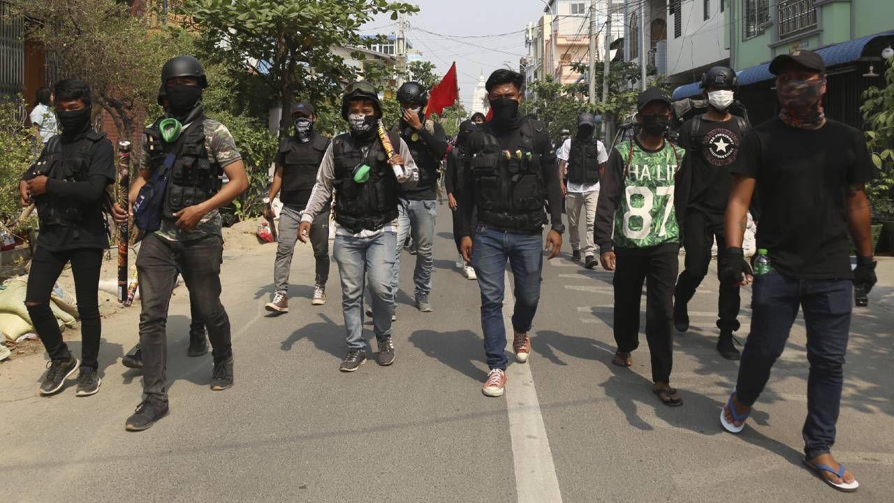 Protesty w Mjanmie nie ustają (fot. PAP/EPA/STRINGER)