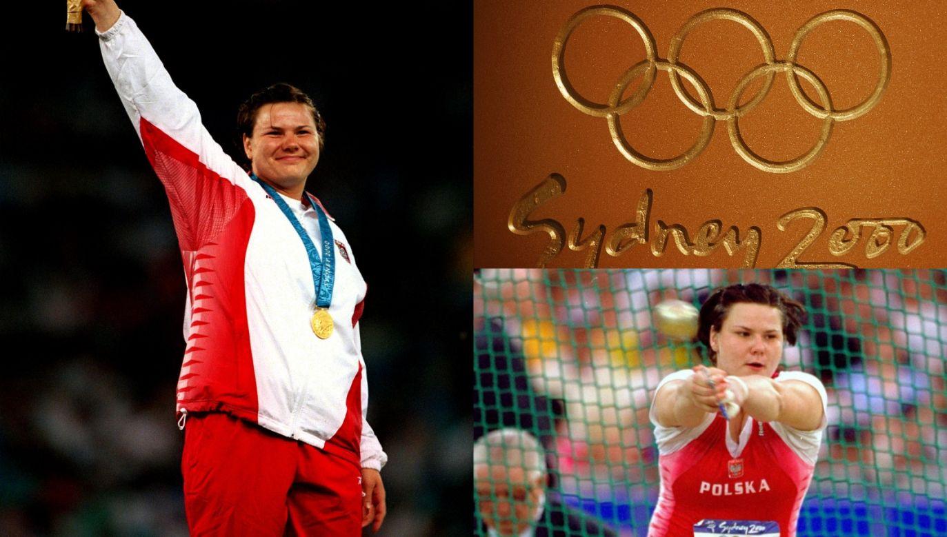 Kamila Skolimowska podczas igrzysk olimpijskich w 2000 roku (fot. Getty Images)