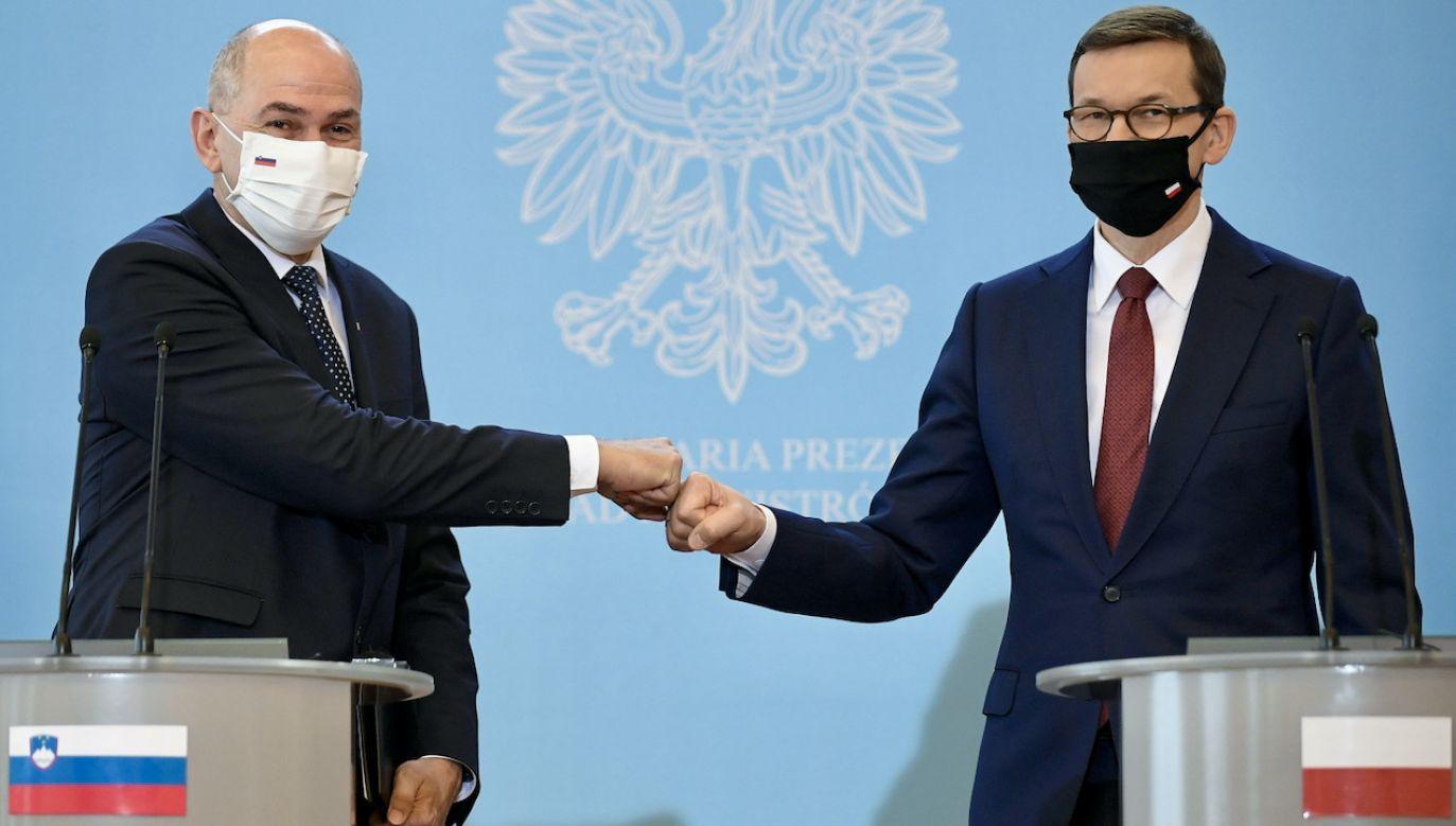 """""""Niebawem Słowenia obejmie przewodnictwo w Radzie UE"""" (fot. PAP/Marcin Obara)"""