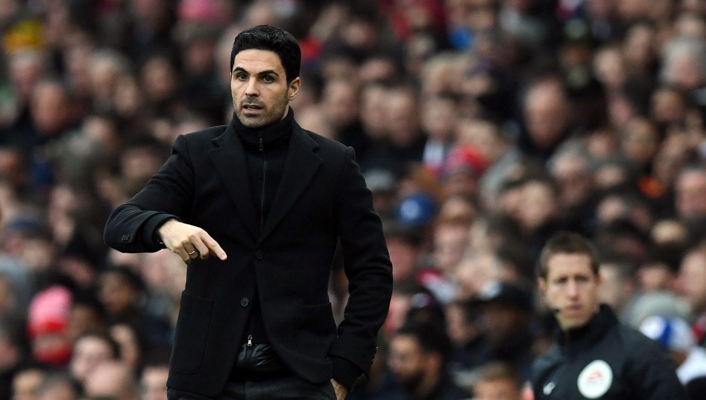 Trener Arsenalu Londyn Mikel Arteta (fot. PAP)