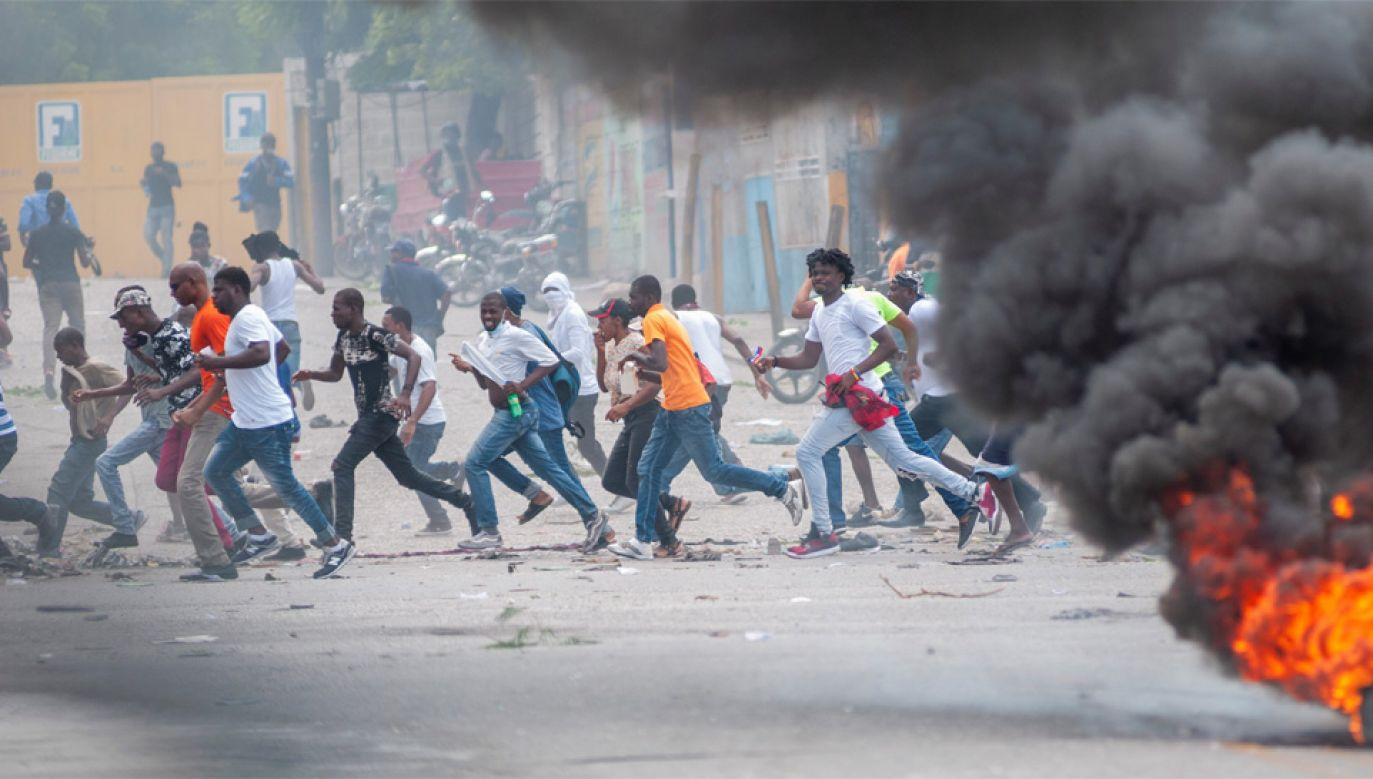 Demonstracje na Haiti trwają od wielu tygodni (fot. PAP/EPA/Jean Marc Herve Abelard)