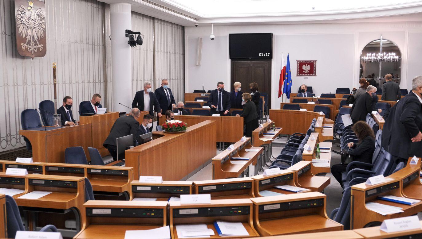 The plenary hall of the Polish Senate. Photo: PAP/Mateusz Marek