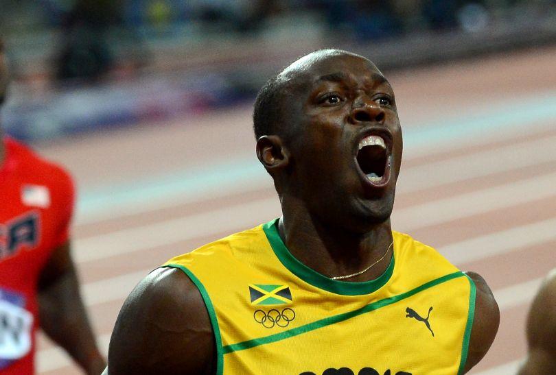 Tak cieszył się Bolt ze złotego medalu (fot. Getty Images)